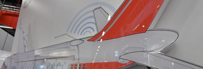 Plane diagram with Antenna
