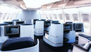A selection of premium seats onboard an aircraft