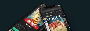 Magazines shown on smartphoes using PressReader
