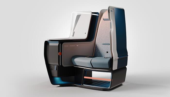 A unibody aircraft seat from JPA Design