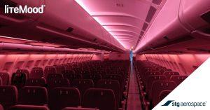 red lighting interior airplaine
